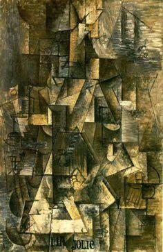 Reproduction de Picasso, Ma jolie. Tableau peint à la main dans nos ateliers. Peinture à l'huile sur toile.