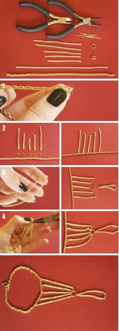 Jewerly Body Chain Slave Bracelet Ideas For 2019 Hand Jewelry, Wire Jewelry, Body Jewelry, Jewelry Crafts, Beaded Jewelry, Handmade Jewelry, Hand Bracelet, Slave Bracelet, Do It Yourself Jewelry