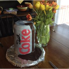 Diet coke cake for mothers day.