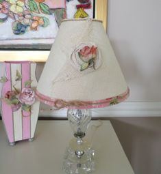 Shabby Chic or Cottage Chic Style Burlap Lamp Shade by SCBORIGINALS on Etsy https://www.etsy.com/listing/190791791/shabby-chic-or-cottage-chic-style-burlap