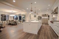 Clyde Hill Modern Farm House - Farmhouse - Kitchen - Seattle - Calista Interiors - Luxury Home Home Decor Kitchen, Farmhouse Kitchen Design, Luxury Kitchens, Modern Farmhouse Interiors, White Dining Room, House, Home Kitchens, Kitchen Design, Modern Floor Plans