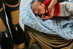 Newborn Firefighter photoshoot