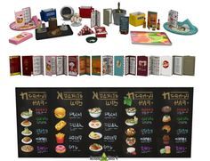 Sims 4 Updates: Around the Sims 4 - Objects, Decor : Restaurant clutter by Sandy, Custom Content Download!