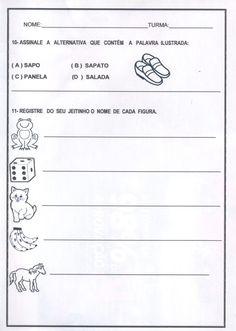 Avaliação diagnóstica 1 ano de Português e Matemática Math Equations, Education, School, Blog, Sandrinha, Atv, Writing Activities, Reading Activities, Sight Word Activities