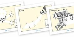 Dot to dot Sheets (Pirates) - dot to dot sheets pirates, dot to Preschool Pirate Theme, Pirate Activities, Educational Activities, Craft Activities, Jack Le Pirate, Pirate Words, Jack In The Box, Connect The Dots, Pirate Party