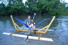 Solo ENO hammock raft. Forget the raft silliness and look at the hammock stand. Patio option?