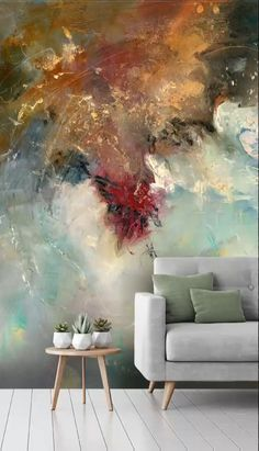 Expressive Abstract Art Wall Murals Home Decor Watercolor Wallpaper, Wall Wallpaper, Kids Wallpaper, Perfect Wallpaper, Unique Wallpaper, Watercolor Walls, Mural Wall Art, Textured Walls, Colorful Decor