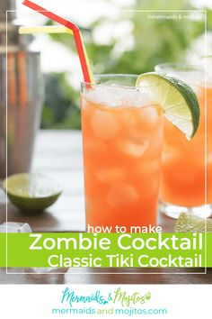 The Zombie Cocktail is a dangerously delicious fruity, rum-filled, boozy concoction from the original Tiki cocktail scene. Zombie Cocktail, Tiki Cocktail, Thanksgiving Desserts Easy, Fall Desserts, Easy Potluck Recipes, Tailgating Recipes, Brunch Recipes, Cocktail Recipes, Breakfast Recipes