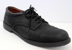 Nunn Bush Oxford Shoe Mens 12 M Black Nubuck Leather  #NunnBush #Oxfords