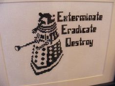 15 Awesome Doctor Who Cross Stitches.  LMW: Several really cute ones that I like.  Daleks plus more.