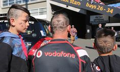 Family #Warrior-style #hairstyle #haircut at Mt Smart Stadium #WarriorsForever