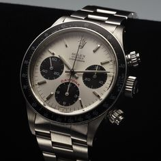 ROLEX REF. 6263 BIG RED DAYTONA STEEL sold in Antiquorum's Jun 22 auction in New York for $47,500. Have a watch to consign? Call us at (212) 750 -1103 or email clientadvisory@antiquorum.com