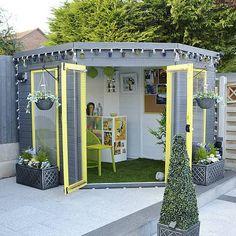 20 summer house design ideas: 8 x 8 waltons premier corner summerhouse. Corner Summer House, Summer House Garden, Corner House, Summer Houses, Garden Bar Shed, Diy Pergola, Pergola Plans, Pergola Kits, Pergola Ideas