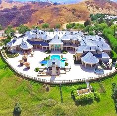 """""""Incredible mega mansion in the California Hills  #ModernMansions"""""""