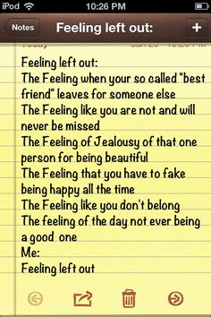 Jealousy, hatred, being left out, me.. Quote