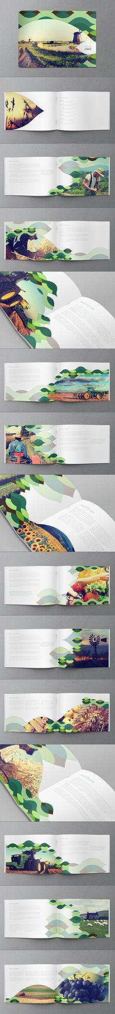 Green Nature Brochure by Abra Design, via Behance