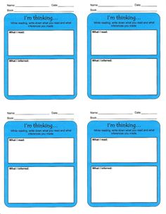 A Gift for You: Reading Strategy Sticky Notes. In reading workshop, students are able to jot their thinking in their notebooks or on sticky notes. DeAnna's templates help guide the student during their reading using different strategies, such as predicting, visualizing, inferring, making connections, etc. They can be easily placed in a student's notebook or even used as an exit ticket at the end of a lesson.