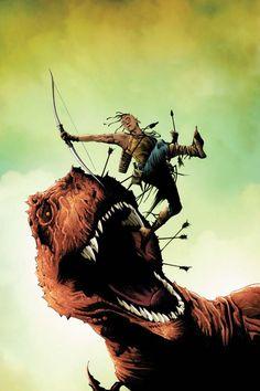 Turok Dinosaur Hunter Vol 2 Cover B Variant Jae Lee Subscription Cover Best Comic Books, Comic Books Art, Comic Art, Dinosaur Hunter, Dinosaur Art, Planet Hulk, Jae Lee, Fictional Heroes, Midtown Comics