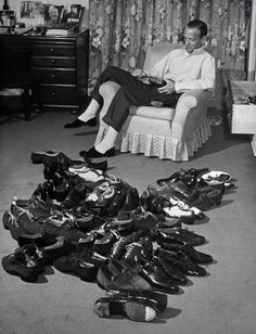 Fred Astaire and his dance shoes~ by Bob Landry, 1941