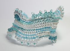 Herringbone Stitch Bracelet - Pale Turquoise by Alice Elizabeth Still, via Flickr