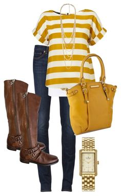 """Yellow for Fall"" by karrinaaaa ❤ liked on Polyvore featuring J Brand, J by Jasper Conran, Steve Madden, Kate Spade and Forever 21"
