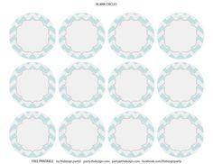 free chevron party printables - Mint chevron {blank}