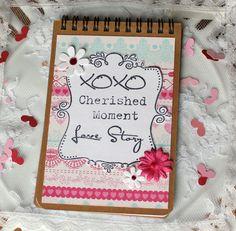 Love Story spiral bound notebook Valentine's by BellaBoutique23