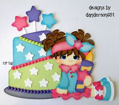 Brithday-Girl-Kids-Paper-Piecing-Set-PreMade-Border-Scrapbook-Album facebook - danderson651