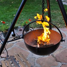 It's a fire pit. It's a grill. It's a showpiece. I love the Cowboy Cauldron.