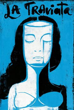 Edel Rodríguez illustrated poster for the Grand Rapids Michigan Opera performance of La Traviata, 2013