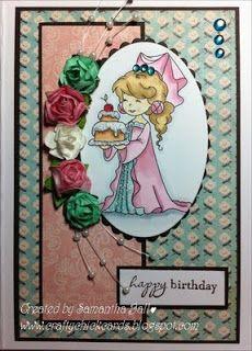 Craftychick Cards: Princess With Cake - SDT Work