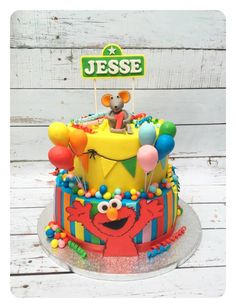 Sesame Street cake for Jesse! - Cake by cakesbybarbara