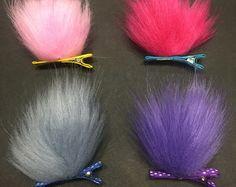 Satén y Chenille cabeza accesorio del pelo. Trol por DiddyDarlings