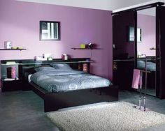 Chambre #design #violet #purple Photo : Conforama | Chambre A ... Schlafzimmer Conforama