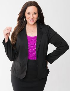 Fitted Ponte Jacket | Lane Bryant