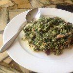 quinoa recept met spekjes en spinazie