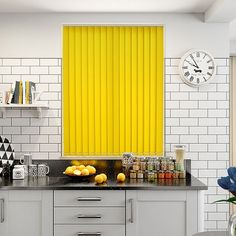 Wow! What a bright and colourful tone this Valencia Neon Yellow blind has. Just the thing for giving your home a little bit of pep and vigour.