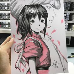 Inktober Day 14. Doing the catching up game now. :) #spiritedaway #inktober2017 #inktober #inktoberarttra