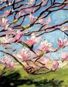 """Magnolia Tree"" - Original Fine Art for Sale - © Kristen Dukat"