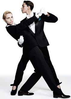 Andreja Pejic & Lea T • ph. Andreas Larsson • Candy Magazine (Dec. 2011)