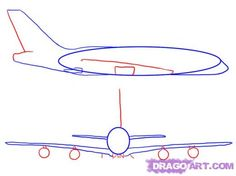 Step 4. How to Draw an Airplane