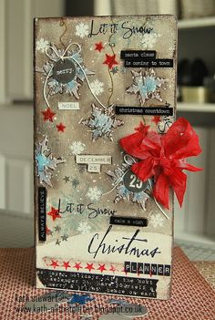 Simon Says Stamp Monday Challenge - Stamp It - Christmas Planner using Eileen Hull Journal Die