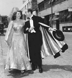 """Rita Hayworth and Fred Astaire - """"You Were Never Lovelier"""" 1942. Rita looks so happy...I don't blame her, I would be too! :)"""