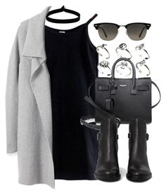 Style #11405 by vany-alvarado on Polyvore featuring polyvore, fashion, style, American Apparel, AllSaints, Yves Saint Laurent, ASOS, The Flexx, Ray-Ban and clothing