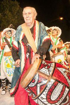 """Carnaval 2014 - Carlos Páez Vilaró - Artista uruguayo, Montevideo 01/11/1923 - Punta Ballena 24/02/2014 (Uruguay).        En los años 40, Páez Vilaró, motivado por el candombe, se integró a la vida del conventillo """"Mediomundo"""", situado en Cuareim Nº 1080 (hoy Z. Michelini), El """"Mediomundo"""" constituyó un verdadero templo del candombe, fue la casa de las comparsas: """"Miscelánea Negra"""", """"Morenada"""", hoy su sucesora le rinde un tributo con su nombre: la Comparsa """"Cuareim 1080"""" o conocida como…"""