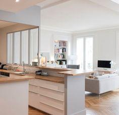 d coration et am nagement d 39 un s jour cuisine de 60m2 brive la gaillarde samantha d coration. Black Bedroom Furniture Sets. Home Design Ideas