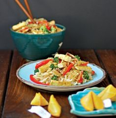 Recipe: Szechuan Stir-Fry with Fiery Peanut Sauce  (I would leave out red pepper flakes..try cayenne pepper dash)