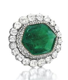 The Catherine the Great Emerald and Diamond Brooch