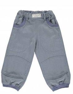 Okker-Gokker mælkestribet twill bukser med ribkant