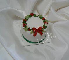 Totally making this. Mini Christmas Cakes, Christmas Cake Designs, Christmas Cake Decorations, Christmas Food Gifts, Holiday Cakes, Christmas Cooking, Christmas Goodies, Christmas Desserts, Xmas Cakes